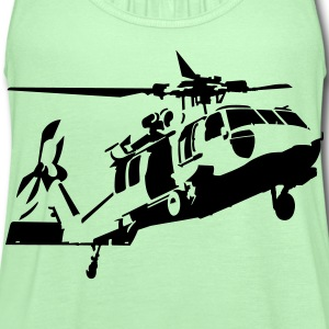 helicopter T-Shirts - Women's Flowy Tank Top by Bella