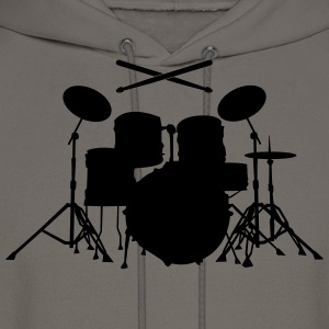 Drums with sticks Shirt - Men's Hoodie