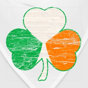 Vintage Distressed Irish Flag Hearts Shamrock  - Bandana