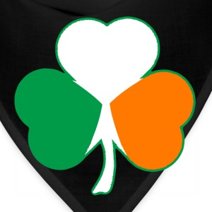 Irish Flag Hearts Shamrock T-shirt - Bandana