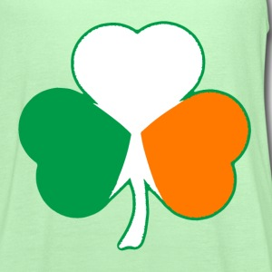 Irish Flag Hearts Shamrock T-shirt - Women's Flowy Tank Top by Bella