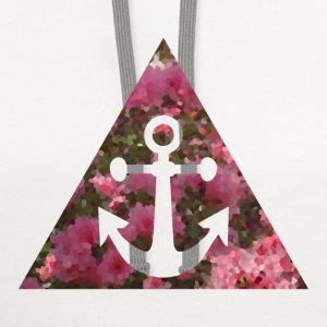 Anchor in Pixelated Flower Triangle T-Shirts - Contrast Hoodie