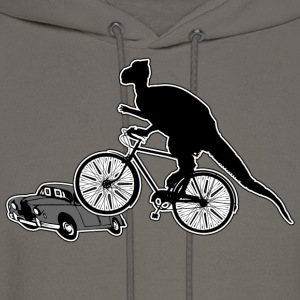 Bicycle Riding Dinosaur T-Shirt - Men's Hoodie
