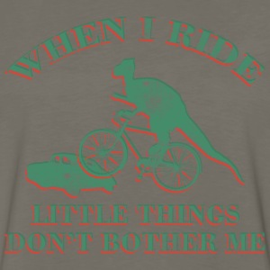 Bicycle Funny Dinosaur Riding T-Shirt - Men's Premium Long Sleeve T-Shirt