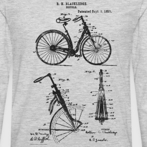 Bicycle Front Suspension Bike 1890 Blackledge T-Sh - Men's Premium Long Sleeve T-Shirt
