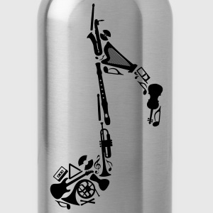 Notes of musical instruments Shirt - Water Bottle