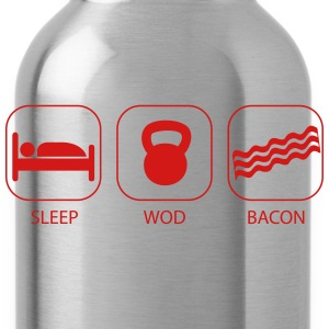 Sleep WOD Bacon - Workout and Weight Lifting Kids' Shirts - Water Bottle