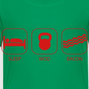 Sleep WOD Bacon - Workout and Weight Lifting Kids' Shirts - Toddler Premium T-Shirt