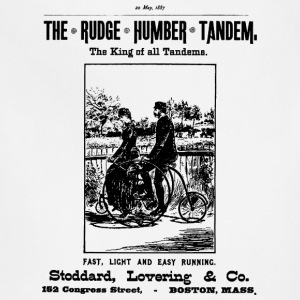 Bicycle Poster 1887 Tandem - Adjustable Apron