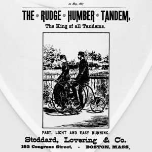 Bicycle Poster 1887 Tandem - Bandana