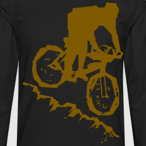 Bicycle Mountain Bike Abstract - Men's Premium Long Sleeve T-Shirt