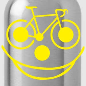 Bicycle Smiley Face - Water Bottle