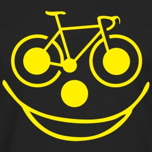 Bicycle Smiley Face - Men's Premium Long Sleeve T-Shirt