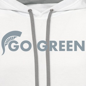 Go Green T-Shirts - Contrast Hoodie