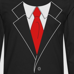 Suit and Tie (2 Color) T-Shirts - Men's Premium Long Sleeve T-Shirt