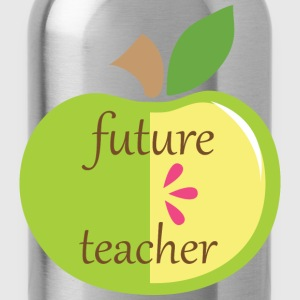 Future Teacher Apple Kids' Shirts - Water Bottle