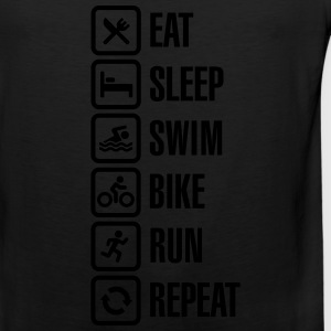 Eat sleep swim bike run repeat - triathlon T-Shirts - Men's Premium Tank