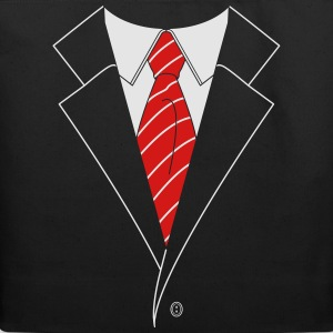 Suit and Tie w/ Stripes (2 Color) T-Shirts - Eco-Friendly Cotton Tote