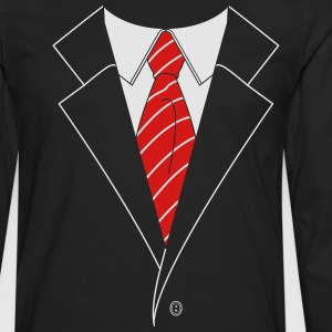 Suit and Tie w/ Stripes (2 Color) T-Shirts - Men's Premium Long Sleeve T-Shirt