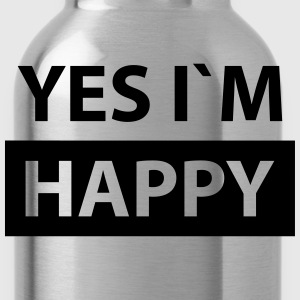 yes i´m happy T-Shirts - Water Bottle