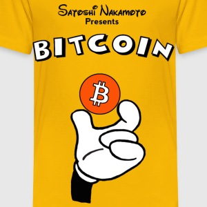 Bitcoin Mickey Kids T Shirt - Toddler Premium T-Shirt