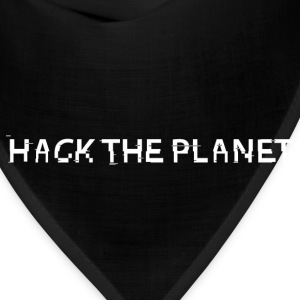 Hack The Planet [White] T-Shirts - Bandana