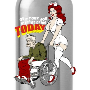 Sexy Nurse And The Playboy Old Man  - Water Bottle