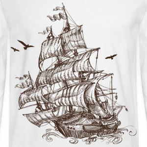 ship at sea - Men's Long Sleeve T-Shirt