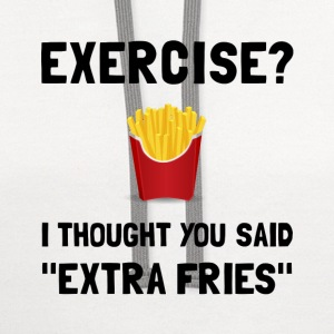 Exercise Extra Fries - Contrast Hoodie