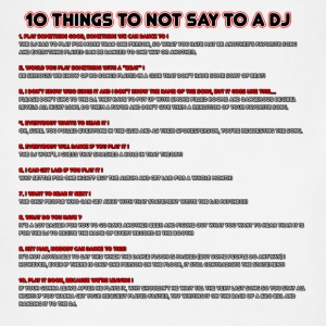 10 Things To Not Say To A DJ - Adjustable Apron
