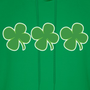 3 Lucky Clovers St Patricks Day - Men's Hoodie