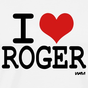 White i love roger T-Shirts - Men's Premium T-Shirt