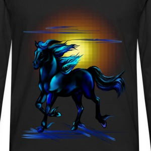 Black Horse - Men's Premium Long Sleeve T-Shirt