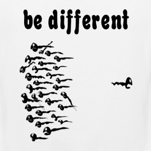 White Be Different Sperm T-Shirts - Men's Premium Tank