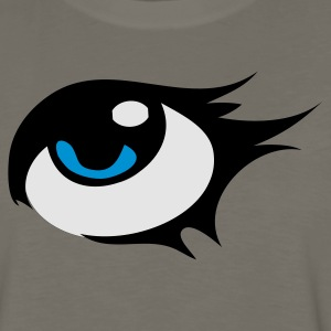 Yellow eye with pretty eyelashes Kids' Shirts - Men's Premium Long Sleeve T-Shirt