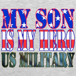 Ash  MY SON IS MY HERO US MILITARY T-Shirts - Men's Premium Tank