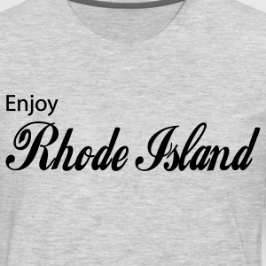 Heather grey rhode island T-Shirts - Men's Premium Long Sleeve T-Shirt