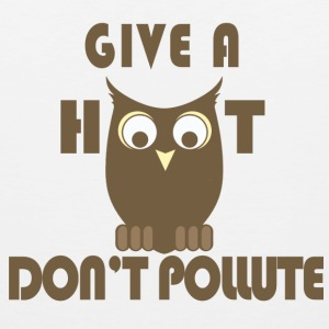 Give a Hoot, Don't Pollute - Men's Premium Tank