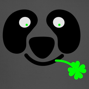Kelly green cute irish panda with clover leaf St Patricks Day T-Shirts - Trucker Cap