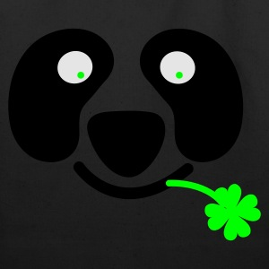 Kelly green cute irish panda with clover leaf St Patricks Day T-Shirts - Eco-Friendly Cotton Tote