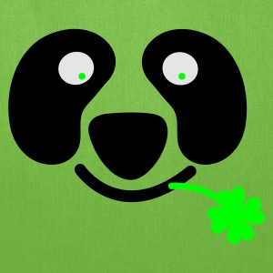 Kelly green cute irish panda with clover leaf St Patricks Day T-Shirts - Tote Bag