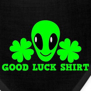 Kelly green Good luck shirt with alien cute ! St Patricks Day T-Shirts - Bandana