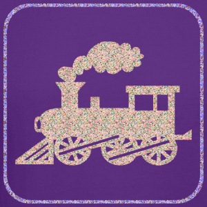 Purple A CHOO CHOO TRAIN T-Shirts - Crewneck Sweatshirt
