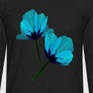 Two Electric Blue Flowers - Men's Premium Long Sleeve T-Shirt