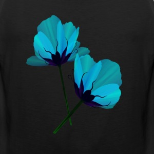 Two Electric Blue Flowers - Men's Premium Tank