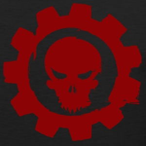Black cog and skull T-Shirts - Men's Premium Tank