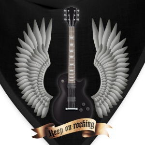 Black guitars_and_wings_black T-Shirts - Bandana