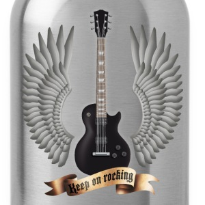Black guitars_and_wings_black T-Shirts - Water Bottle
