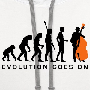White evolution_bass_2c_b T-Shirts - Contrast Hoodie