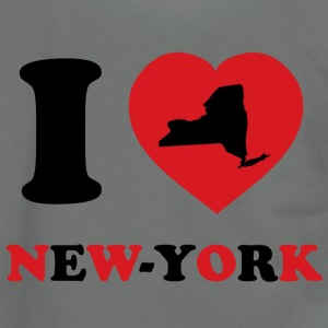 I Love New-York - Unisex Fleece Zip Hoodie by American Apparel
